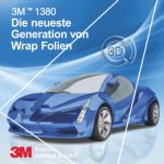 5 lfm | 3M Wrap Folie Serie 1380 - 152 cm G212 gloss black metallic
