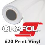 Orafol 620 Print Vinyl weiss glänzend 126cm - 50m Rolle