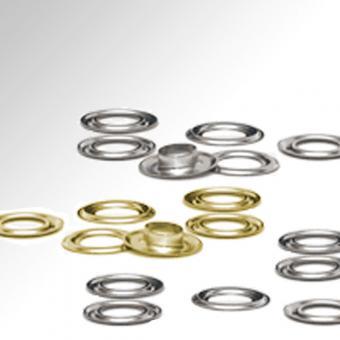 Metallösen für EMBLEM Ösenaufnahmen messing | 6,35 mm