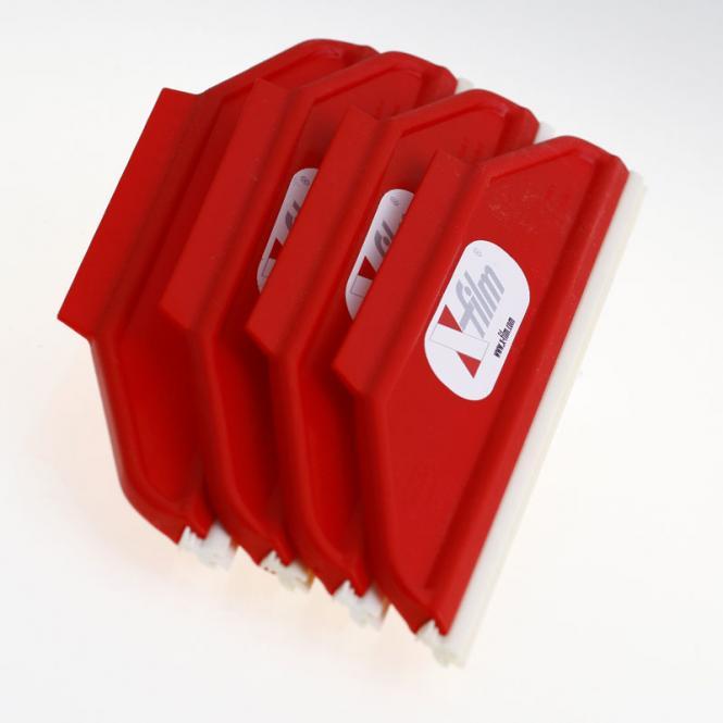 X-Film Kunststoffrakel mit Gummilippe