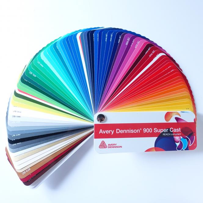 Farbfächer Avery Dennison 900 Super Cast