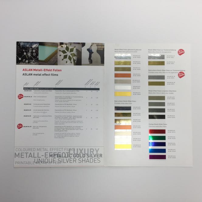 Farbkarte Aslan Metall-Effekt-Folien