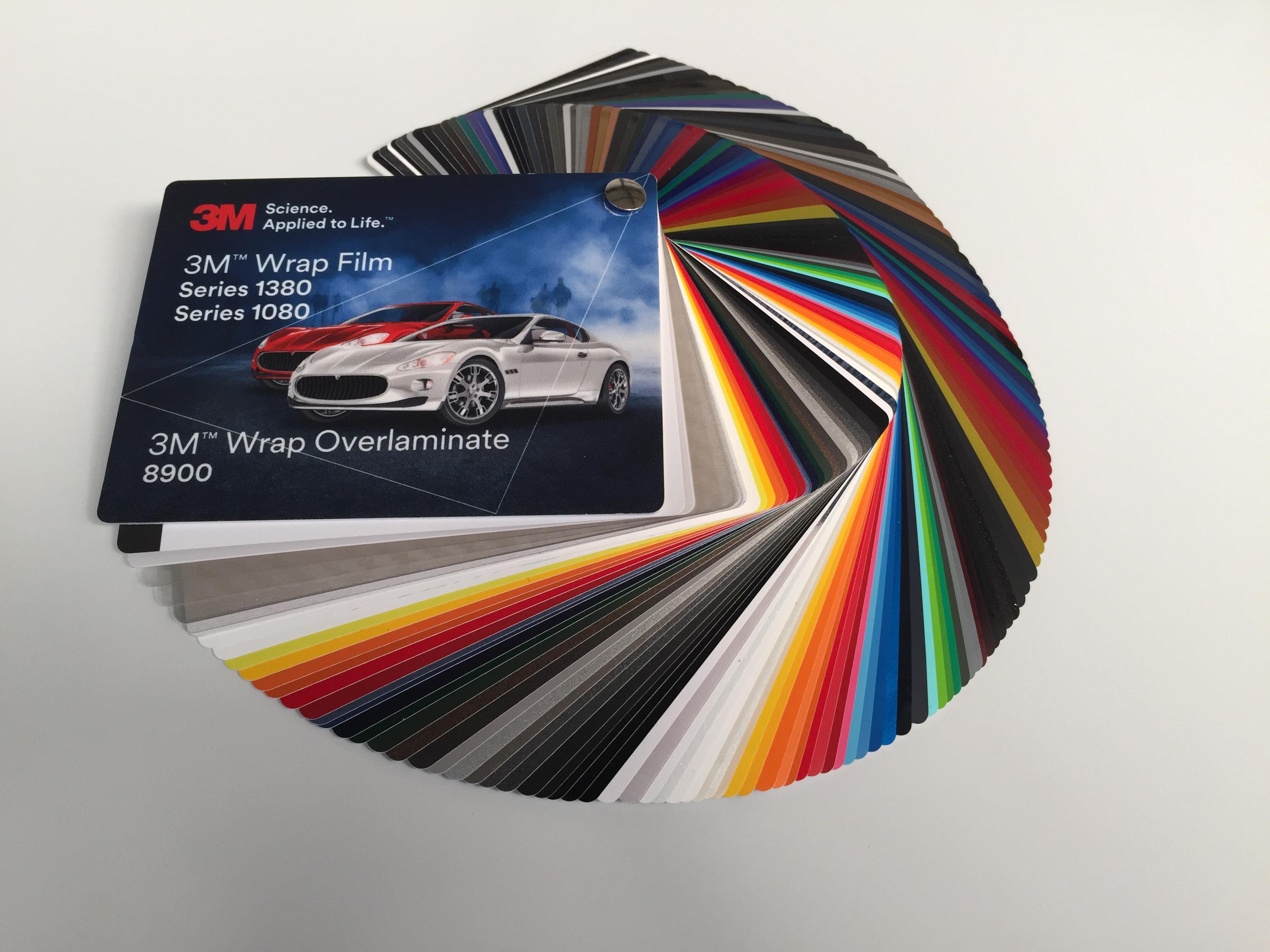 3m farbf cher 1080 1380 8900 car wrapping folien und overlaminate neue farben. Black Bedroom Furniture Sets. Home Design Ideas