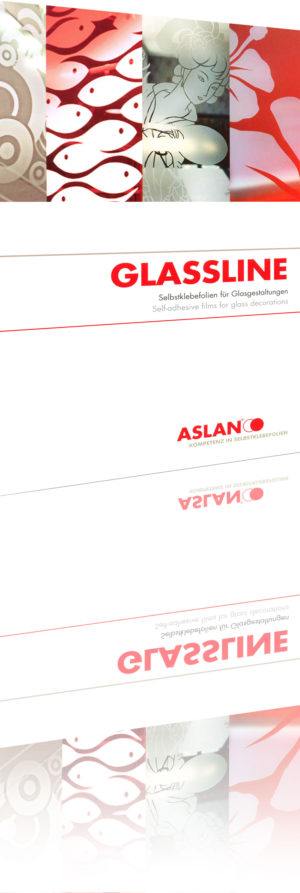 9,88 lfm ASLAN EC55 - Farbige Glasdekorfolie 122 cm Beige 22391K ...